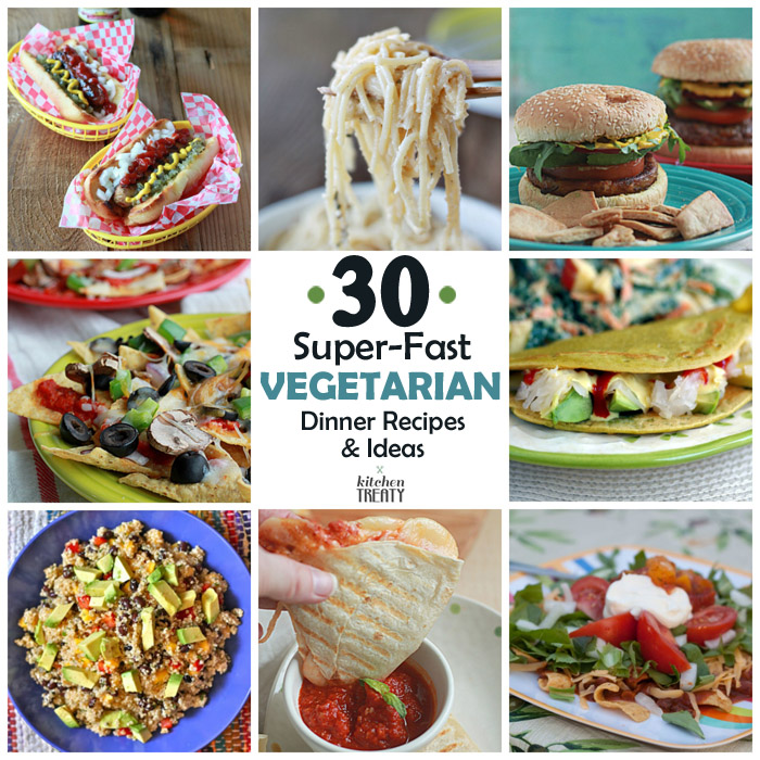 30 Super Fast Vegetarian Dinner Recipes Ideas That Take 20