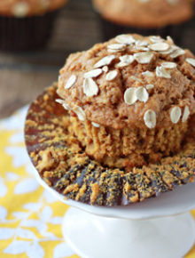 Whole Wheat & Oat Pumpkin Spice Muffins Square