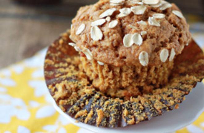 Whole Wheat & Oat Pumpkin Spice Muffins Square