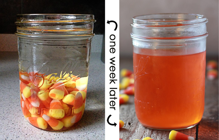 Candy Corn Infused Vodka Kitchen Treaty