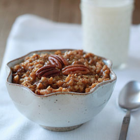 Crock Pot Overnight Pumpkin Pecan Steel Cut Oatmeal
