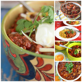 17 Crock Pot Vegetarian Chili Recipes (+ 5 Bonus Meaty Chili Recipes for the Carnivores)