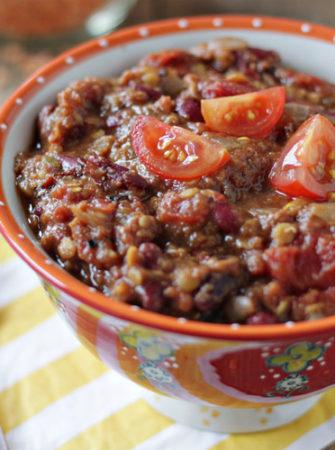 Crock Put Pumpkin Red Lentil Chili | Kitchen Treaty