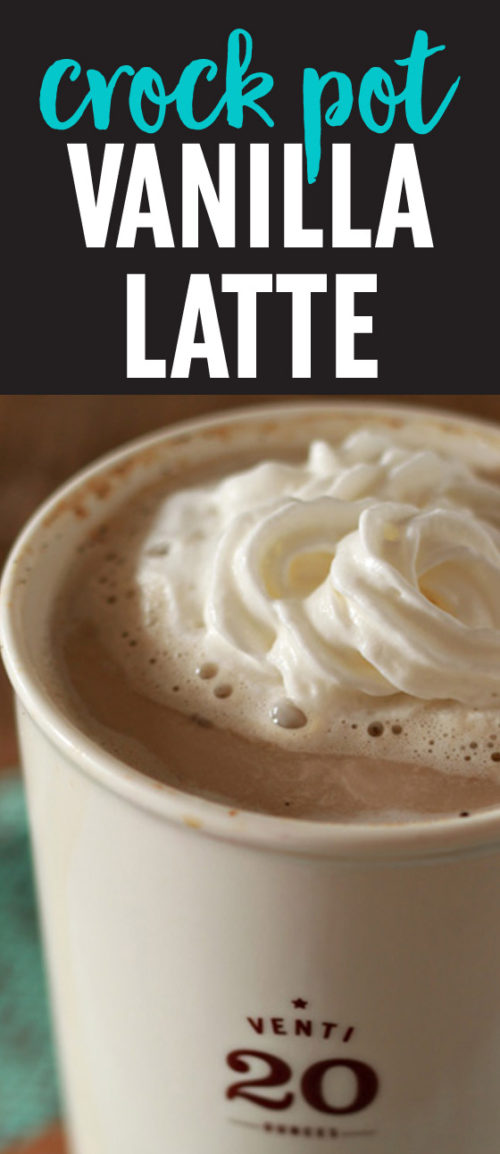 Slow Cooker Vanilla Latte recipe - Brewing up decadent vanilla lattes couldn't be any easier. Perfect for busy weekends and holiday mornings!