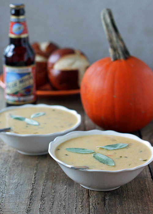 Pumpkin Ale Beer Cheese Soup with Sharp Cheddar and Gruyere   Kitchen Treaty