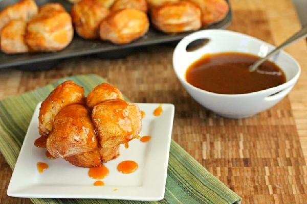 Pumpkin Caramel Monkey Bread Muffins by Dinners, Dishes, and Desserts // 45 Glorious Pumpkin Breakfast Recipes | Kitchen Treaty