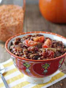 pumpkin red lentil chili square