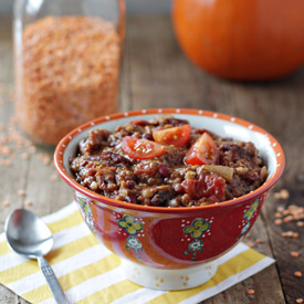 Crock Pot Pumpkin Red Lentil Chili