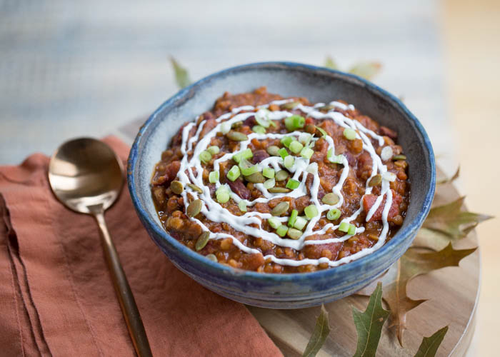 Pumpkin Red Lentil Chili | 17 Christmas Crock Pot Recipes For A Memorable Time With Your Family