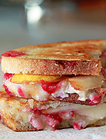 Cranberry, Pear, and Brie Grilled Cheese | Kitchen Treaty