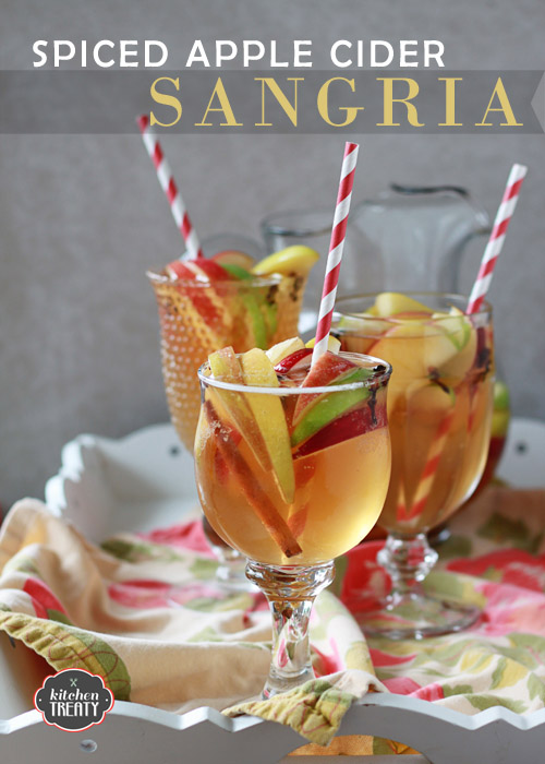 Spiced Apple Cider Sangria - his sweet spiced apple cider sangria is nice and light, a little bubbly, a tad sweet, and an absolutely perfect excuse to celebrate the season.