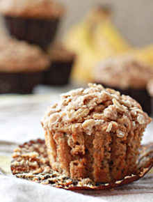 Spiced Banana Streusel Muffins 2 Square