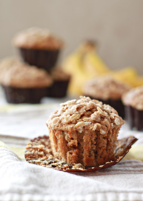 Spiced Banana Streusel Muffins 2