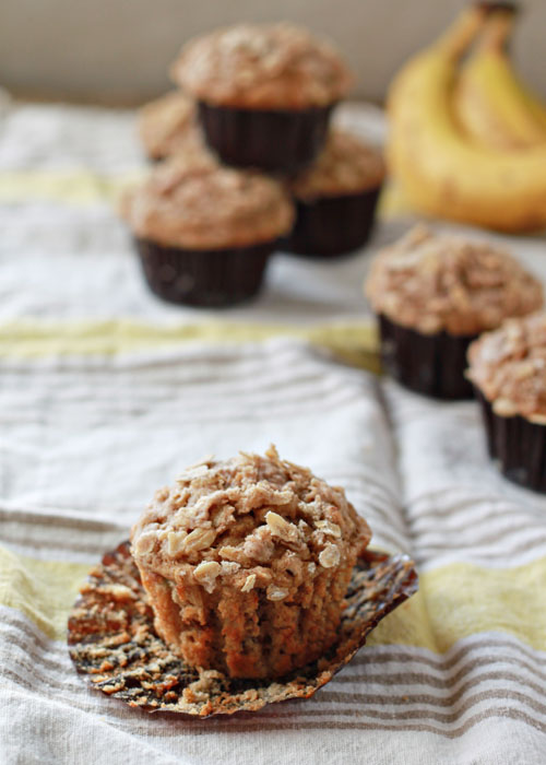 Spiced Banana Streusel Muffins | Kitchen Treaty
