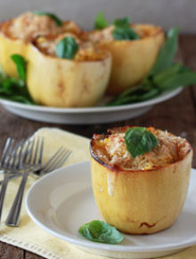 White Pizza Stuffed Spaghetti Squash Sq