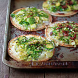 Easy Brussels Sprouts Pita Pizzas with Optional Bacon Sq