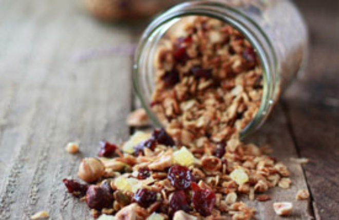 Hazelnut, Cherry, and Pistachio Granola | Kitchen Treaty