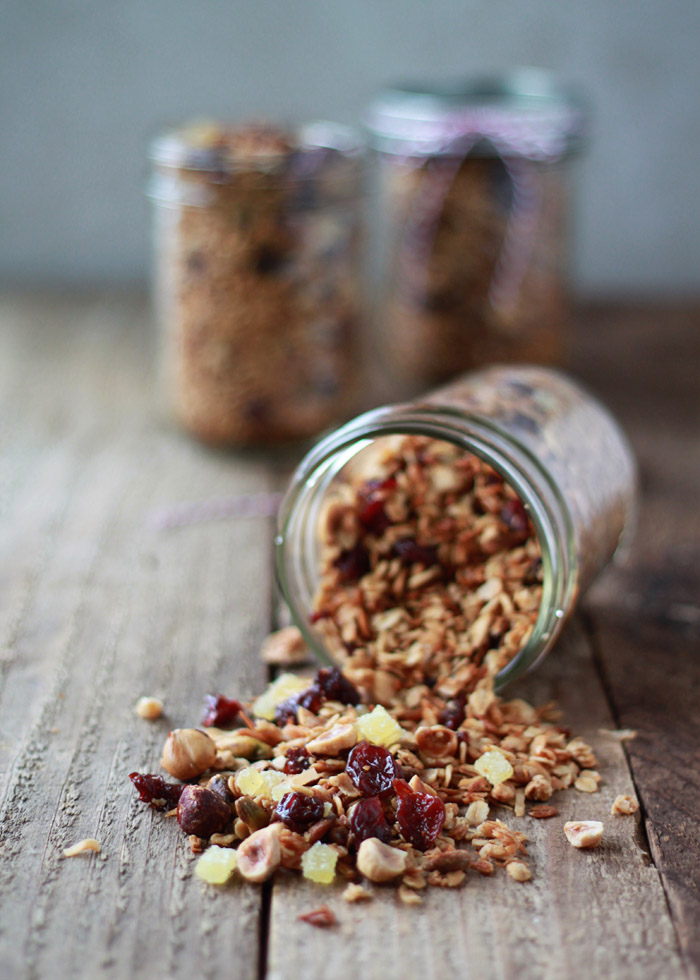 Hazelnut-Pistachio Granola with Cherries and Candied Ginger | Kitchen Treaty