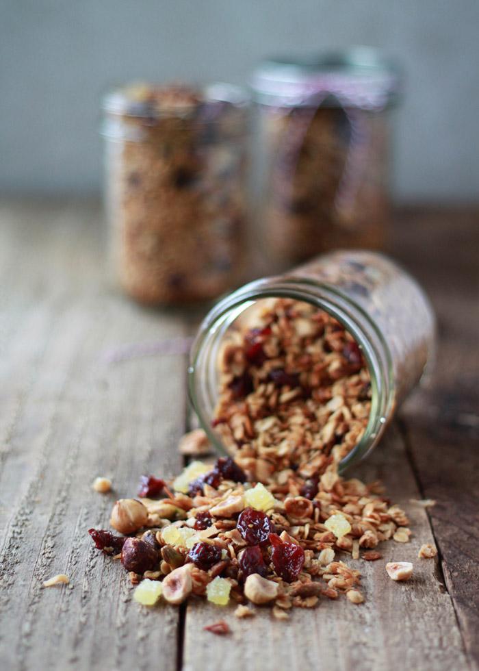 Hazelnut-Pistachio Granola with Cherries and Candied Ginger | Kitchen Treaty