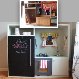 DIY Play Kitchen (Made Out of An Old Entertainment Center!)