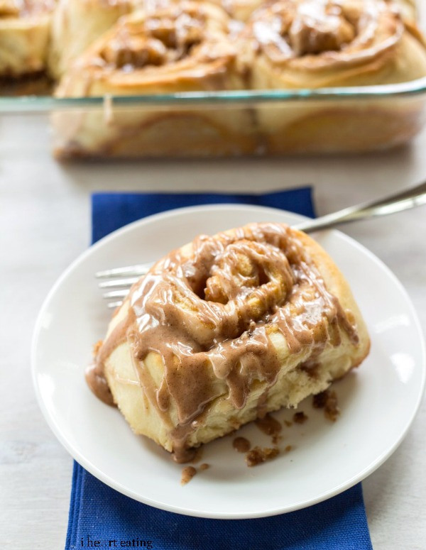 Potato Cinnamon Rolls from I Heart Eating // 30 Vegetarian Recipes for Thanksgiving Leftovers | Kitchen Treaty