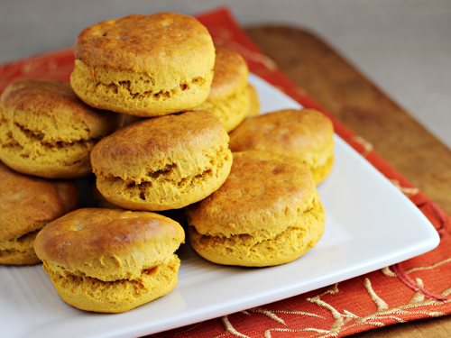 Sweet Potato Biscuits from Home Cooking Memories // 30 Vegetarian Recipes for Thanksgiving Leftovers | Kitchen Treaty