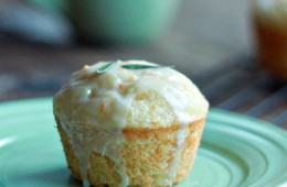 Tuscan Orange Ricotta Muffins with Rosemary-Orange Glaze