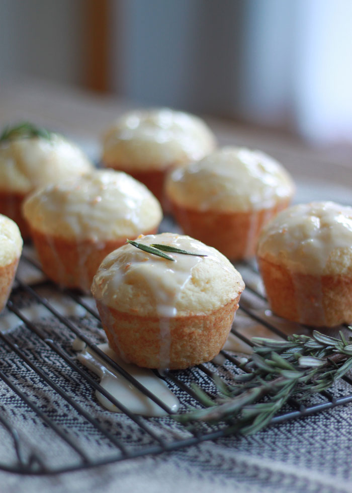 Tuscan Orange Ricotta Muffins with Rosemary-Orange Glaze | Kitchen Treaty
