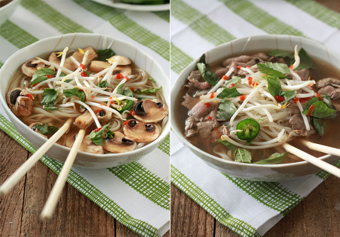 Vegetarian Pho from Scratch (with Optional Beef for the Meat-Eaters)