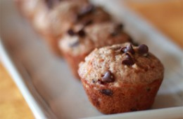 Whole Wheat Carrot Chocolate Chip Mini Muffins