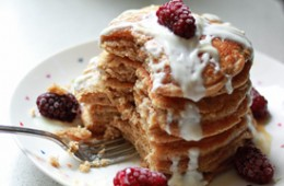 Whole Wheat Vanilla Yogurt Pancakes