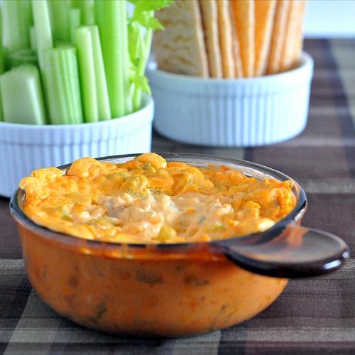 Buffalo Dip Three Ways from Spa Bettie  || 40 Uber Cheesy Dip Recipes (P.S. They're all meatless, too!) | kitchentreaty.com