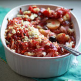 Potatoes Baked with Tomatoes, Olives, & Feta | kitchentreaty.com