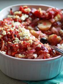 Potatoes Baked with Tomatoes, Olives, & Feta   kitchentreaty.com