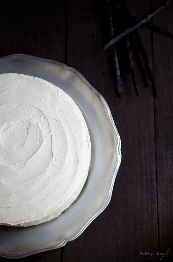 Cardamom Vanilla Bean Layer Cake from Savory Simple || 80 Vanilla Recipes That Are Anything But Plain Vanilla | Kitchen Treaty