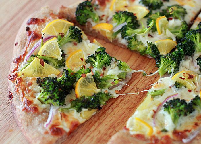 Broccoli and Meyer Lemon Pizza   kitchentreaty.com