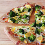 Broccoli and Meyer Lemon Pizza | kitchentreaty.com