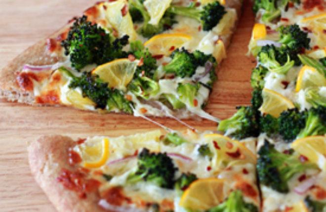 Broccoli and Meyer Lemon Pizza | kitchentreaty.com