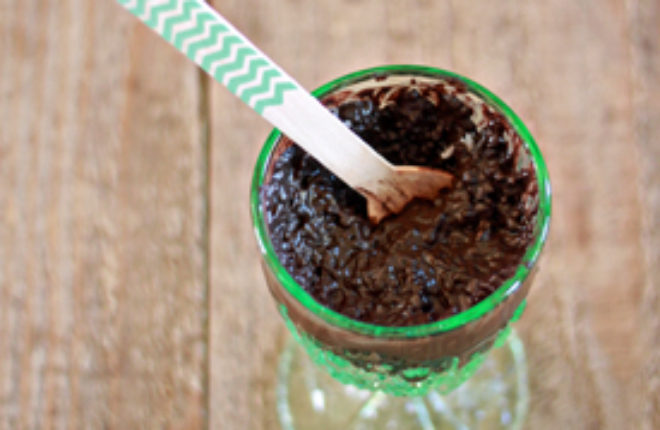 Rich and Creamy Chocolate-Coconut Chia Pudding   kitchentreaty.com