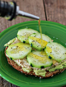 Cucumber Hummus Avocado Toast | kitchentreaty.com
