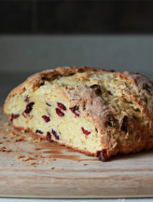 Cranberry Orange Irish Soda Bread | kitchentreaty.com