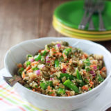 Quinoa Confetti Salad with Sugar Snap Peas & Toasted Pepitas