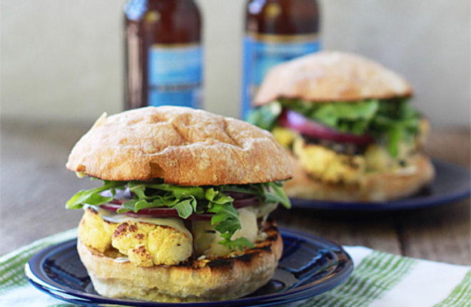 "Grilled Cauliflower ""Steak"" Burgers"
