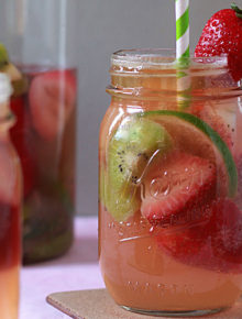 White Strawberry Kiwi Sangria