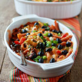 Veggie-Filled Enchilada Pasta Bake (with Optional Ground Beef)