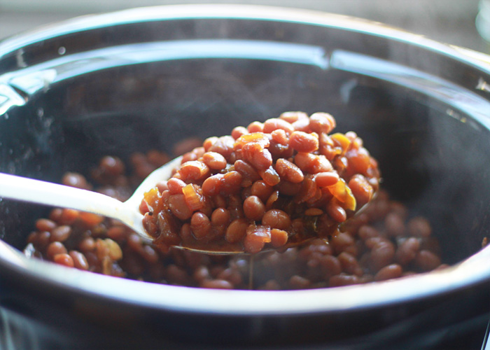"... Never Miss the Bacon"" Vegetarian Boston Baked Beans - Kitchen Treaty"
