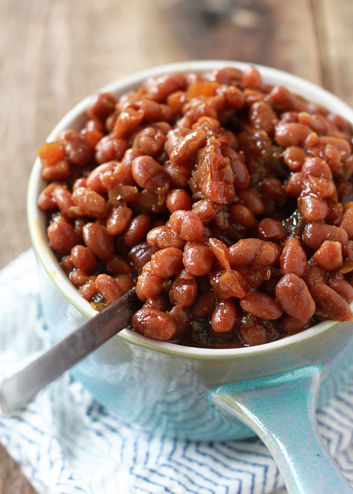 "Crock Pot ""You'll Never Miss the Bacon"" Vegetarian Boston Baked Beans"
