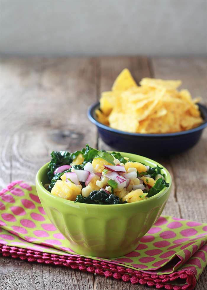 Kale, Corn, & Pineapple Salsa
