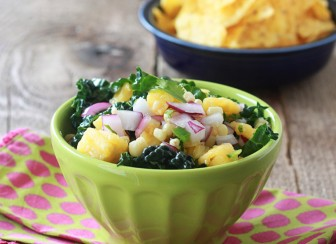 Pineapple, Corn, & Kale Salsa