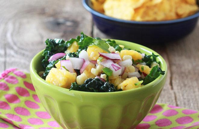 Pineapple, Corn, & Kale Salsa
